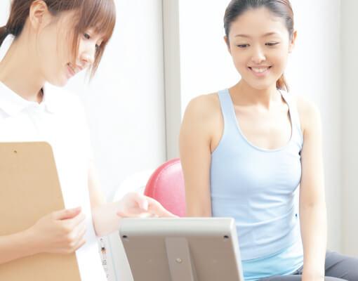 クラブのご利用開始後、運動効果の確認を毎月行っていきます。お客様の運動プラグラムを最適化いたします。
